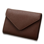 DcSpring RFID Blocking Women's Genuine Leather Credit Card Holder Ladies Small Coin Pocket Purse Men's Mini Wallet