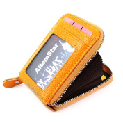 11 colours credit card wallets for women men, card holder women men zip round RFID credit card protector