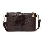 Handbag,LMMVP Women Crocodile Pattern Shoulder Bag Small Purse PU Leather Handbag