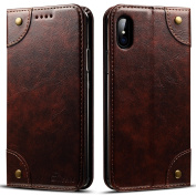 Leather Wallet Phone Case Flip Protective Card Holder Cover Kickstand Folio Cover for iPhone X,