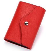 Credit Card Holder Wallet for Women Men Genuine Leather