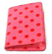 Cath Kidston Bi-Fold Ticket Holder Little Spot PVC Coated Cotton Pink Retro Cute