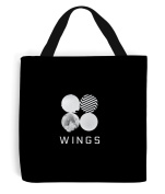 BTS Tote Bag - Printed and Sewn by Hand | Printed on Both Sides