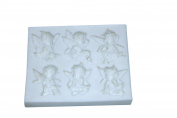 YBC 3D Silicone Fondant Cake Mould Flower Lace Decortaion DIY Baking Chocolate Sugarcraft Mould for Xmax Christmas