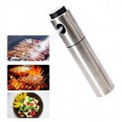 Olive Oil Sprayer,Pawaca Stainless Steel Vinegar Oil Spray Bottle for Cooking/BBQ/Kitchen Spray Bottle,Easy to Clean