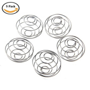 QuiCi 5pcs Milkshake Protein Blender,Wire Mixer Mixing Ball For Shaker,Replacement Wire Whisk