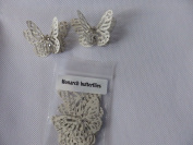 10 3D monarch butterflies 4.5cm x 3cm with 2 diamonte made from a book