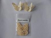 10 3D Monarch butterflies 4.5cm x 3cm with 2 diamonte cream