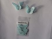 10 3D Monarch butterflies 4.5cm x 3cm torquoise