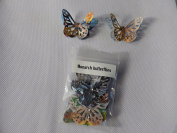 10 3D Monarch butterflies 4.5cm x 3cm with 2 diamonte made from video inlays