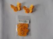 10 3D Monarch butterflies 4.5cm x 3cm with 2 diamonte orange