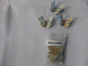 10 3D Monarch butterflies 4.5cm x 3cm with 2 diamonte made from an atlas
