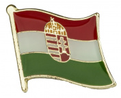Hungary Flag Enamel Pin Badge