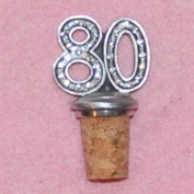 80th Birthday UK Made Pewter Bottle Stopper