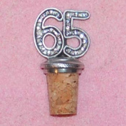 65th Birthday UK Made Pewter Bottle Stopper