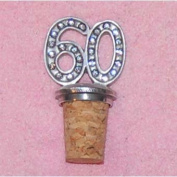60th Birthday UK Made Pewter Bottle Stopper