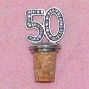 50th Birthday UK Made Pewter Bottle Stopper
