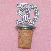 30th Birthday UK Made Pewter Bottle Stopper