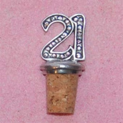 21st Birthday UK Made Pewter Bottle Stopper