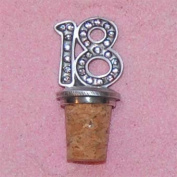 18th Birthday UK Made Pewter Bottle Stopper