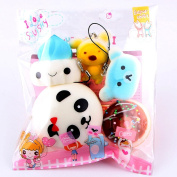 Slow Rising Squishies Jumbo, Toamen 10pcs Medium Mini Soft Squishy Bread Toys Key Cell Phone Pendant Strap Gift