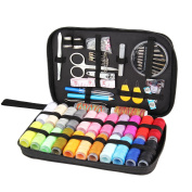 Sewing Kit with 94 Sewing Accessories, niceEshop(TM) 24 Colour Spools of Thread, Mini Sewing Kits for Kids,Beginners,Traveller, Summer Camp, Emergency, Family Starter to Mending and Repair