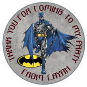"Personalised Batman birthday Party Thank You Seals 50mm 2"" Party Stickers thank you labels"
