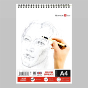A4 Sketch Pad Drawing L Ivory Artist Paper on Spiral Book -50 sheets - 100 pages