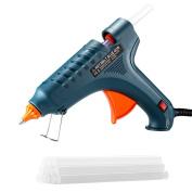 100W Glue Gun, TOPELEK Hot Melt Glue Gun with 12pcs Premium Glue Sticks for Industrial, Home, Arts & Crafts Use
