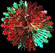 BALL Christmas Foil Decoration Red/Green Garland Ceiling Hanging Home Swirls Festive Party Wall Window