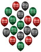 The Christmas Balloon Bulging Sack Megapack - Secret Santa, stocking filler rude balloons