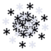 60 g Snowflake Confetti Christmas Table Confetti Party Decorations for Arts Crafts, Silver and White