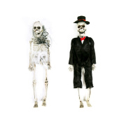 Bride and Groom Hanging Skeleton Decoration