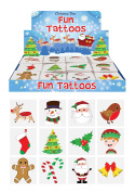 Pack of 12 Assorted Christmas Fun Tattoos