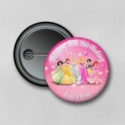Disney Princesses (5.8cm) Personalised Pin Badge Printed in Hi-RES Photo Quality