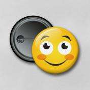 Emoji V2 (5.8cm) Personalised Pin Badge Printed in Hi-RES Photo Quality