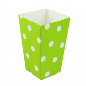 vLoveLife 12pcs Light Green Paper Popcorn Containers Popcorn Box Popcorn Bucket Popcorn Tub for Movie Night