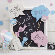 MultiWare 10Pcs Photo Girl Boy Booth Props Design Baby Shower Party Decorations