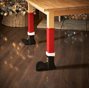Pack of 4 - Christmas Table/Chair Leg Covers - Swan household ® (Santa