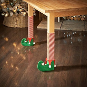 Pack of 4 - Christmas Table/Chair Leg Covers - Swan household ® (Elf