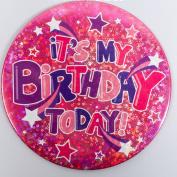 Large Holographic Birthday Badge (Pattern 2) - It's My Birthday Design