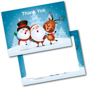 *NEW* Pack of 20 Christmas Thank You Thankyou 3 Singing Postcards Cards with Envelopes