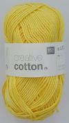RICO CREATIVE COTTON DK HAND KNITTING YARN - 50g 03 Light Yellow