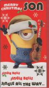 Despicable Me Minions Christmas Card - Son