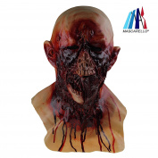 MASCARELLO®Halloween Latex Walking Dead Zombie Decay with Chest Horror Costume Party Masks