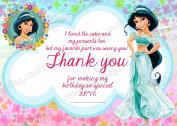 Girls Disney Princess Jasmine Birthday Party Thank you cards,Princess Jasmine party Thank you X 8 CARDS DS2 + Free Envelopes