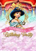Girls Disney Princess Jasmine Birthday Party Invitations,Princess Jasmine party X 8 CARDS + Free Envelopes