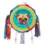 Pug Puppy Pull String Pinata