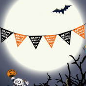 Halloween Banner Garland Decoration Felt Happy Halloween Flag Banner Party Decoration by Outee