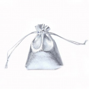 Nacpy Cloth Gift Bags Jewellery Pouches Wrap Packing Pouches Wedding Party Favour Bags 9cm*12cm 25pcs Silver